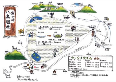 八島湿原イラストマップ