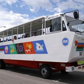 水陸両用観光バスで「諏訪湖探検ダックツアー」