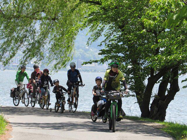 諏訪湖サイクリング